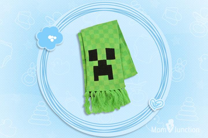 Minecraft Clothes For Kids - Jinx Minecraft Creeper Scarf