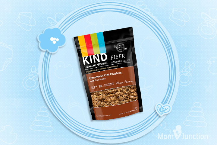 Best Cereal For Kids - KIND Cinnamon Oat Clusters With Flax Seeds