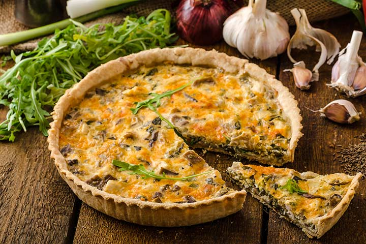 Recipes For Breastfeeding Moms - Kale And Bacon Tart