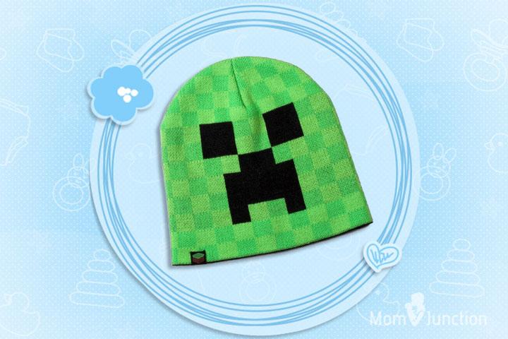 Minecraft Clothes For Kids - Kids Boy's Official Minecraft Creeper Winter Beanie Hat