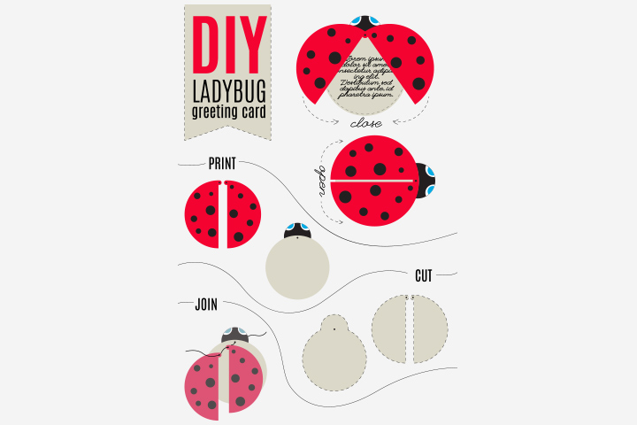 Ladybug Craft - Ladybug Greeting Card