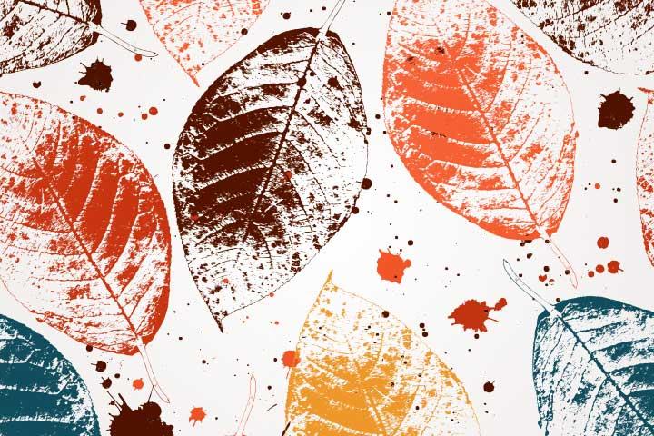 Nature Crafts For Kids - Leaf Print Greeting Cards