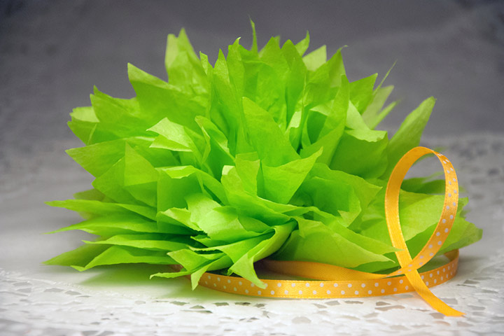 Tissue Paper Crafts For Kids - Leafy Greens Using Tissue