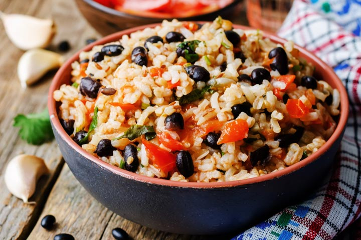 Lunch Box Recipes For Kids - Mexican Bean And Rice Salad