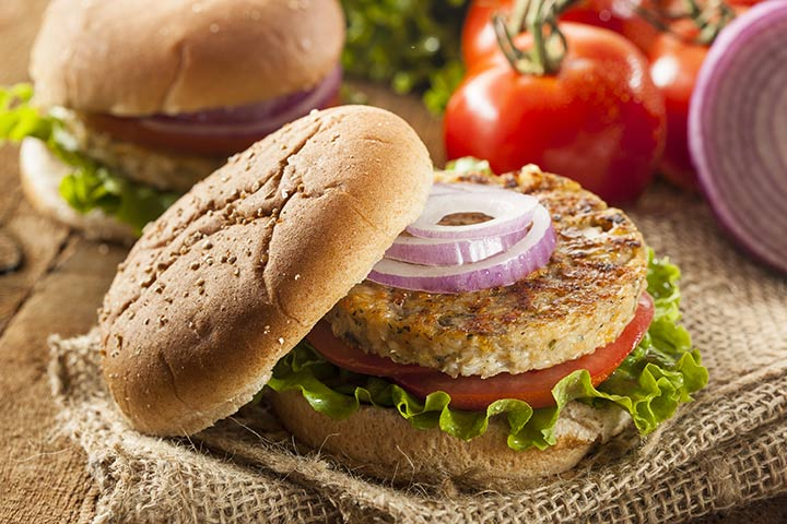 Lunch Box Recipes For Kids - Mexican Bean Burgers with Guacamole