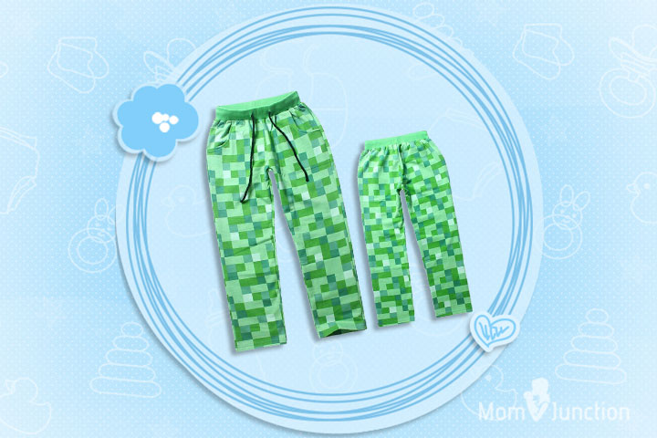 Minecraft Clothes For Kids - Minecraft Creeper Kids Cotton Trousers