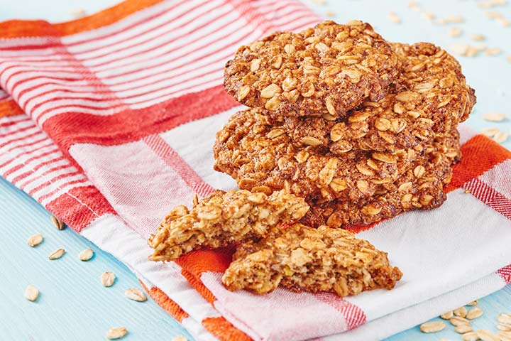 Banana Recipes For Kids - Oatmeal And Banana Biscuit