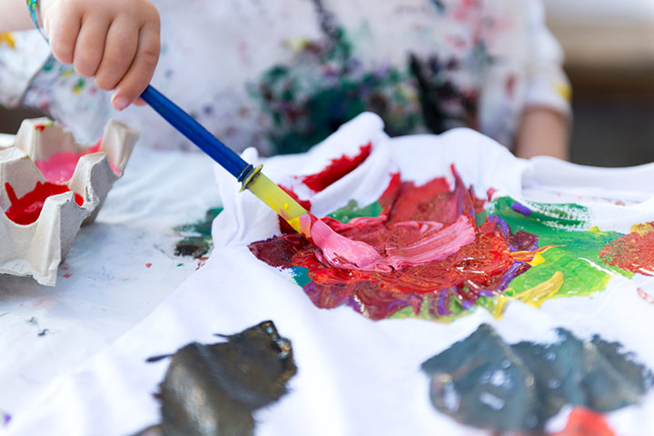 Nature Crafts For Kids - Painted Tees