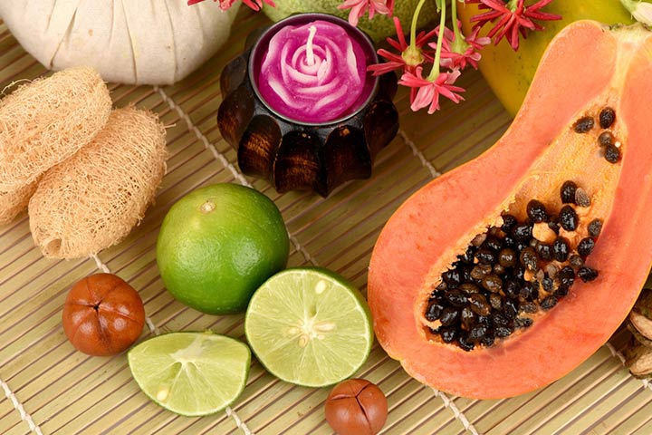 Homemade Face Mask For Kids - Papaya Face Mask