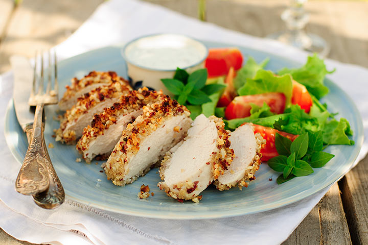 Recipes For Breastfeeding Moms - Peanut Baked Chicken