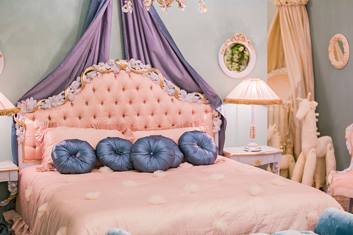 Princess-themed baby girl room idea