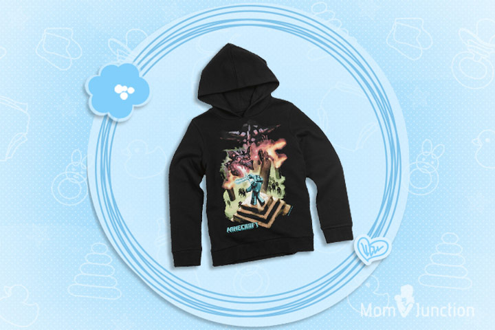 Minecraft Clothes For Kids - Pure Cotton Minecraft Ender Dragon Hooded Sweatshirt
