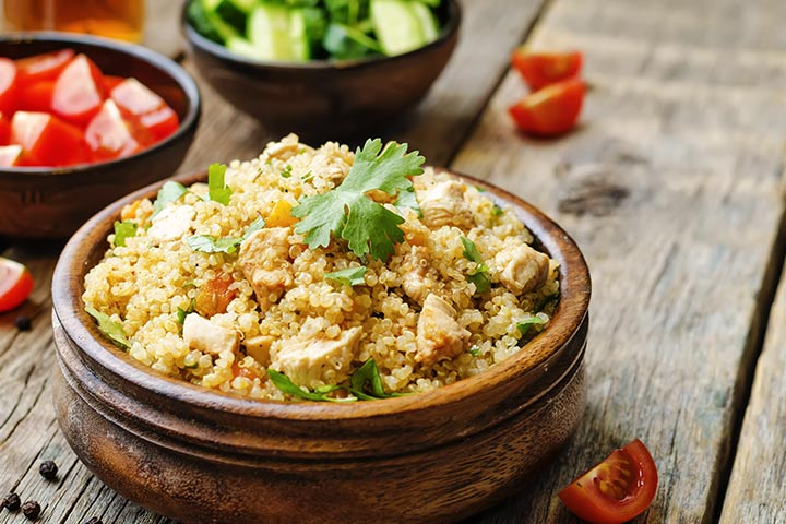 Recipes For Breastfeeding Moms - Quinoa Pilaf With Pine Nuts And Cauliflower