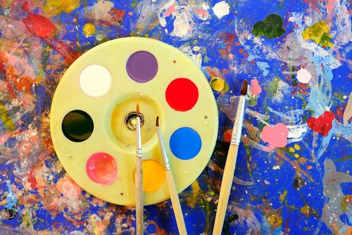 Rainy Day Crafts For Kids - Raincoat Painting