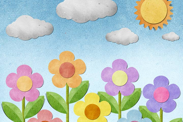 Rainy Day Crafts For Kids - Recycled Paper Sunny Day Art