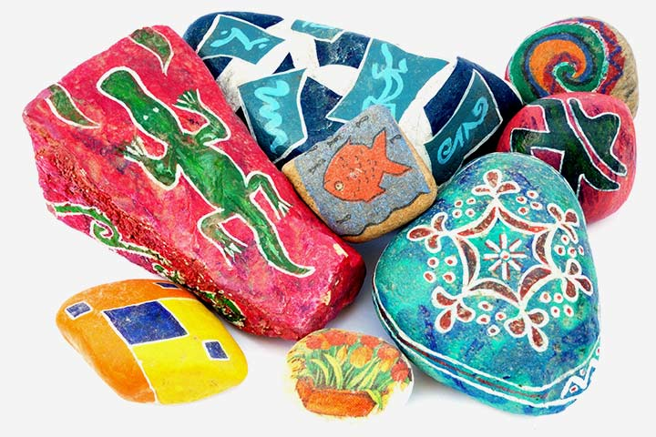Nature Crafts For Kids - Rock Painting