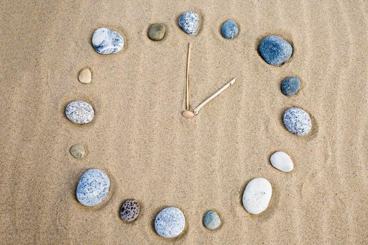 Clock Craft - Sand And Pebbles Clock Craft
