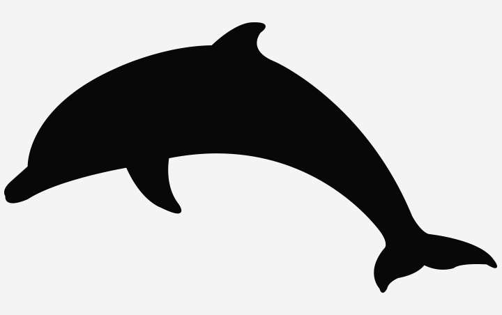 Dolphin Crafts - Silhouette Of Dolphin
