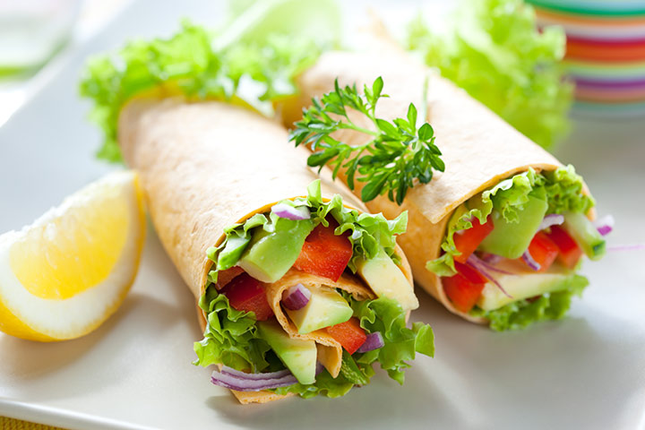 Lunch Box Recipes For Kids - Snack Wraps