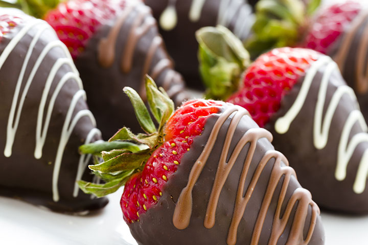 Valentine's Day Activities For Preschoolers - Strawberries Covered In Melted Chocolate