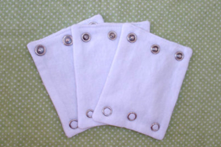 These baby onesie extenders are great for babies who are growing fast
