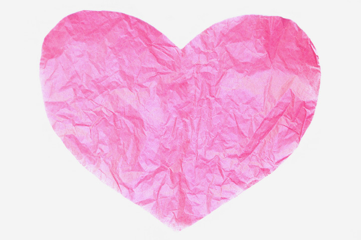 Tissue Paper Crafts For Kids - Tissue Paper Heart