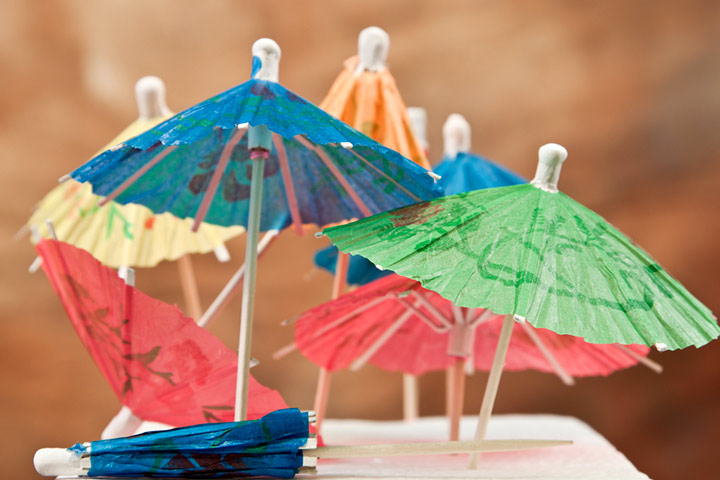 Tissue Paper Crafts For Kids - Tissue Paper Umbrellas