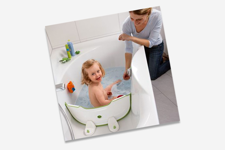 Use a bathtub divider to save water