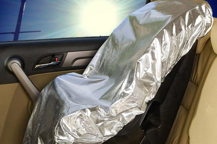 Use this Car Seat Sun Shade at as good as a 60 degree recline,