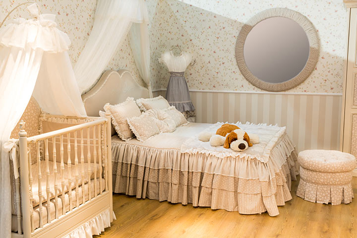 Vintage baby girl room idea