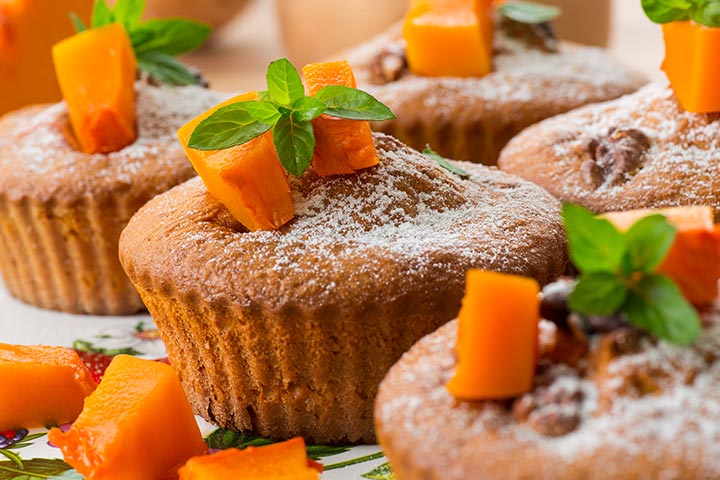Lunch Box Recipes For Kids - Whole-Wheat Pumpkin And Applesauce Muffins