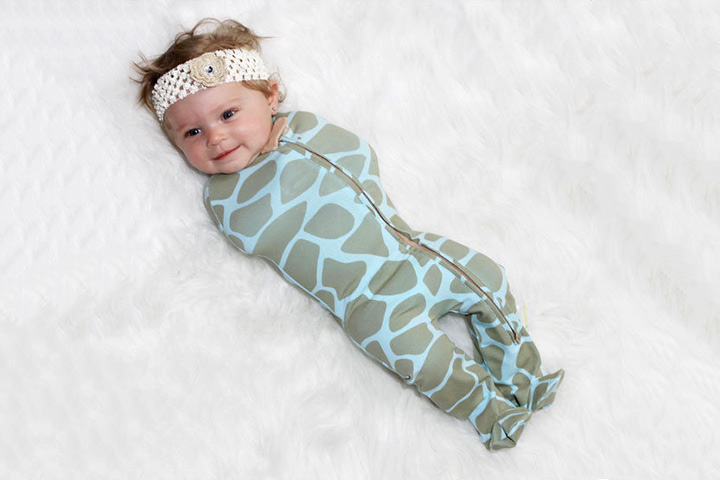 Your baby will love to snuggle into this 'woombie' swaddle – so naturally comfy.