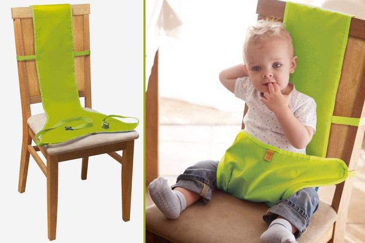 Your travel will get easier with this portable fabric high chair for babies.
