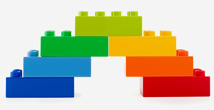 Rainbow Crafts For Kids - Lego Rainbow Craft