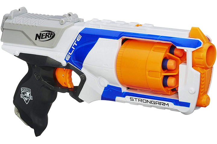 11. Nerf N Strike Elite Strongarm Toy Blaster with Rotating Barrel