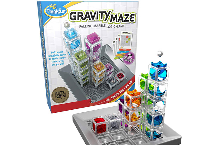 12. ThinkFun Gravity Maze Marble Run Logic Game and STEM Toy