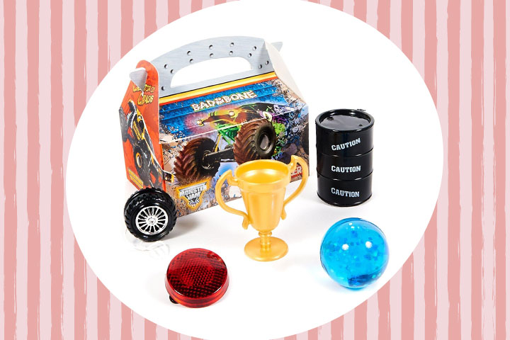 Party Favor Ideas For Kids - Monster Jam 3D Filled Party Favor Box