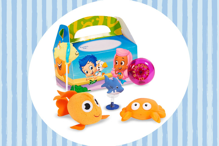Party Favor Ideas For Kids - Bubble Guppies Filled Party Favor Box