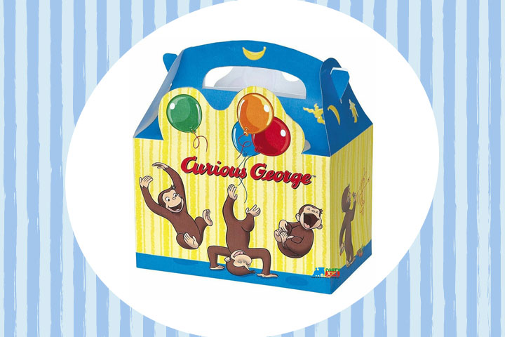 Party Favor Ideas For Kids - Curious George Favor Boxes