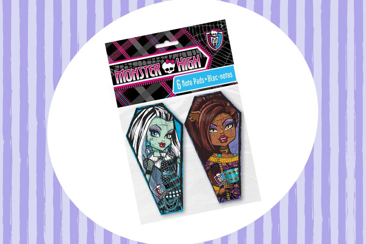 Party Favor Ideas For Kids - Monster High Note Pad Party Favors