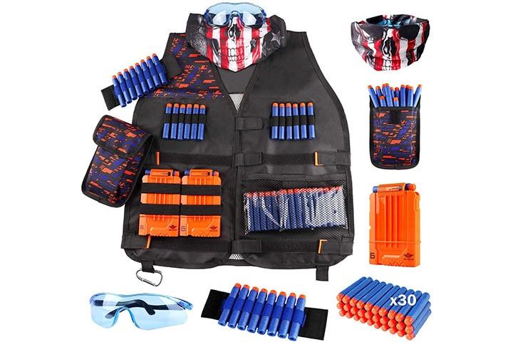 18. UWANTME Kids Tactical Vest Kit for Nerf Guns N-Strike