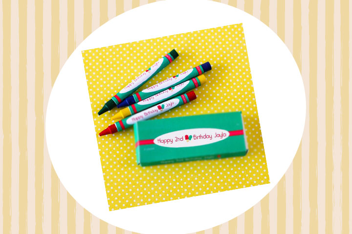Party Favor Ideas For Kids - Personalized Kids Crayon Set