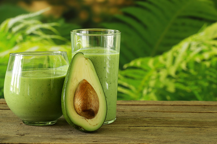 Avocado and formula smoothie