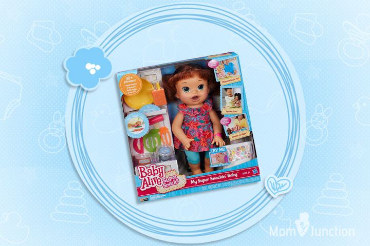 Toys For 5 Year Old Girls - Baby Alive Super Snacks Snackin' Sara Brunette Doll