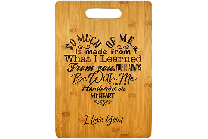 Bamboo Cutting Board with Poem