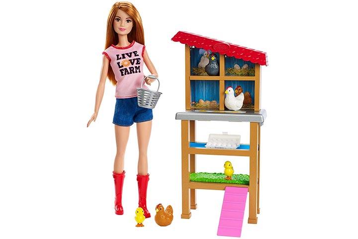 Barbie Chicken Farmer Doll & Playset