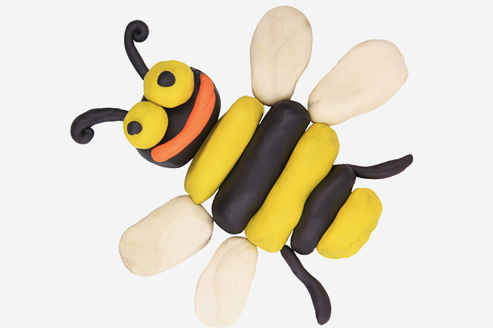 Bug Crafts - Bee Craft From Clay