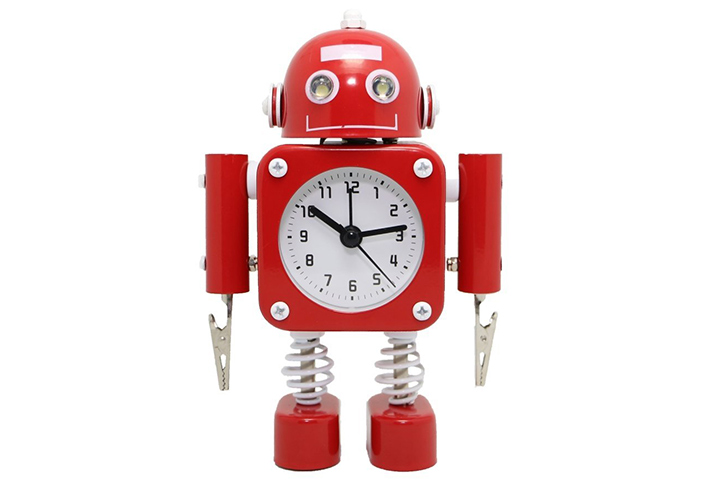 Betus [Non-ticking] Robot Alarm Clock