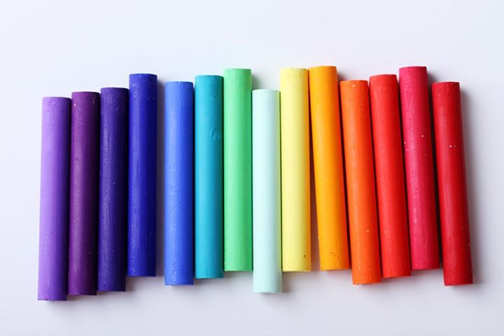 Rainbow Crafts For Kids - Chalk Pastels Rainbow Craft