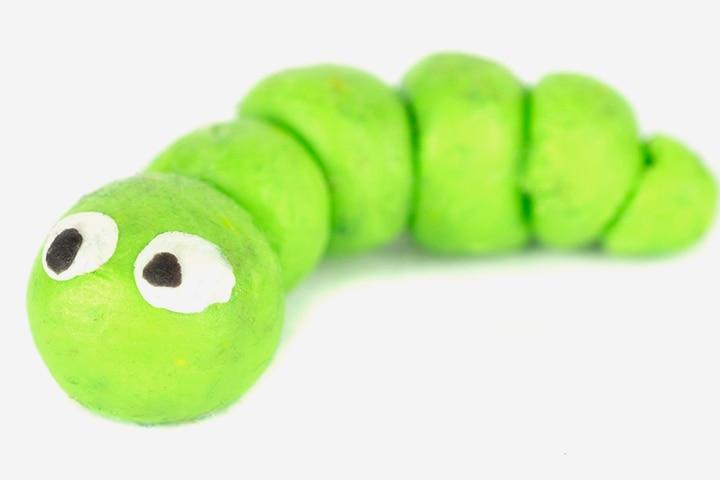 Bug Crafts - Clay Caterpillar Craft